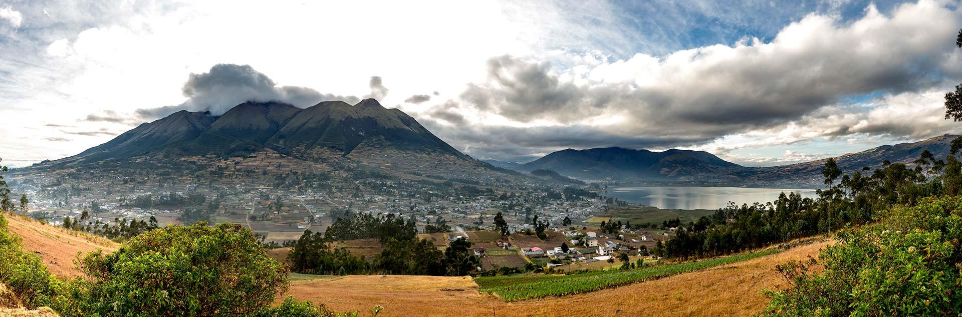 views of Otavalo and San Pablo Lake in Imbabura - Ecuador